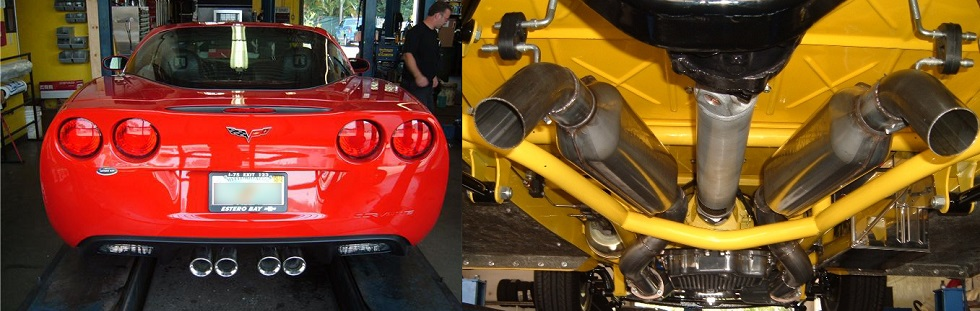 Custom Exhaust Installed on Car